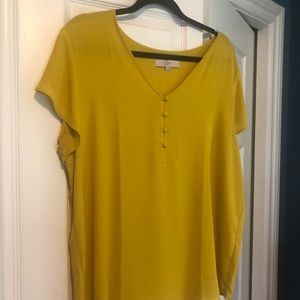 NWOT LOFT Short Sleeve Blouse